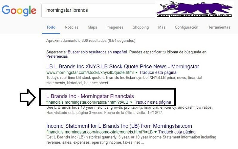 flujos de efectivo, morningstar financials ratios
